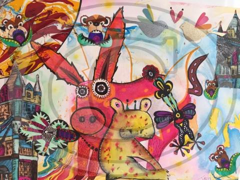 """London Pig"", 2015"